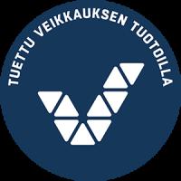 Logo, jossa kerrotaan, että toiminta on tuettu Veikkauksen tuotoilla.