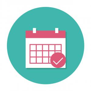 Kuvassa on piirretty kalenteri, jossa näkyy kuukauden ajanjakso
